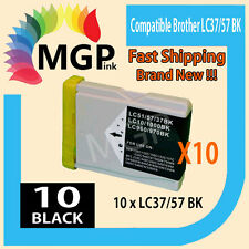 10 generic black INK cartridges LC37 LC57 for BROTHER 130C 330C MFC5860CN/440C