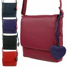 Ladies Leather Small Cross Body Shoulder Bag by Mala; Anishka Collection