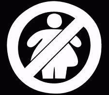 NO FAT CHICKS decal JDM hand funny vinyl round sticker shocker illest slammed
