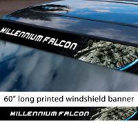 "60"" Millennium Falcon Star Wars Solo Printed Windshield Car Vinyl Sticker Decal"