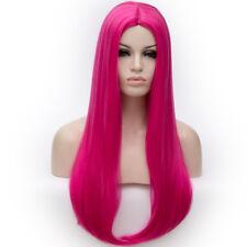 Women Long Straight HighTemperature MiddlePart Internal BuckleDaily Wig 65cm