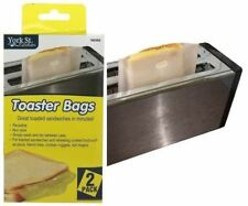 2x Toast Bag Reusable Toaster Sandwich Bags Baking Pouch Toastie Pockets
