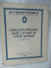 """Les Cahiers d'Occident Rivière """"Quelques progrès dans l'étude du coeur humain"""""""