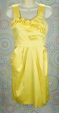 Girls Junior Sleeveless Graduate Easter Summer Dress Size 9 Bright Yellow