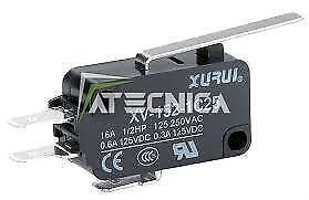 10 pcs Microswitch électrique NO NC 250V 16A microrupteur à bouton 50g levier