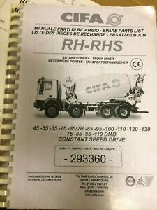 Cifa RH-RHS Spare Parts Catalogue