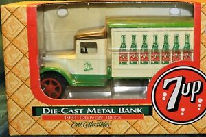 1/34 scale 1931 Delivery Truck 7UP Diecast Metal Bank Ertl  Collectable