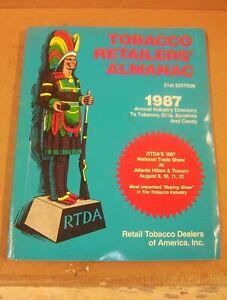 TOBACCO RETAILERS' ALMANAC 1987 Retail Tobacco Dealers of America Brands ADs