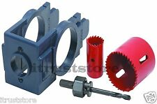 DOOR ENTRY LOCK INSTALLATION JIG DRILLING DRILL BIT GUIDE SET KIT TOOL HOLE