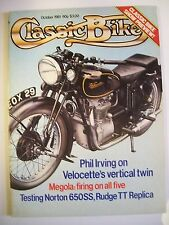 Classic Bike Magazine. No. 21. October, 1981. Velocette's vertical twin. Megola.