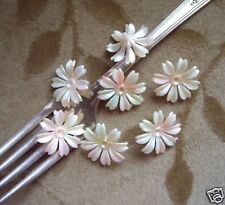 60 Lucite/plastic flower beads/cabs, ivory white,20mm