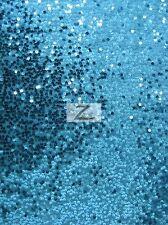 "RAIN DROP SEQUIN TAFFETA FABRIC - Turquoise - 55""/60"" WIDTH FASHION DRESS GOWN"