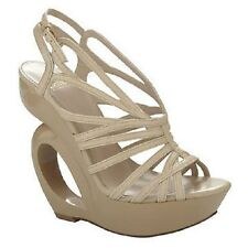 Truth or Dare by Madonna Shoes, Moncrief Platform Wedge Sandals SIZE 7.5 CAMEL