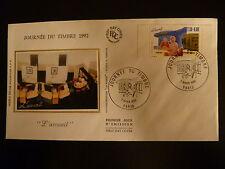 FRANCE PREMIER JOUR FDC YVERT N° 2744 JOURNEE DU TIMBRE 2,50+0,60F   PARIS  1992