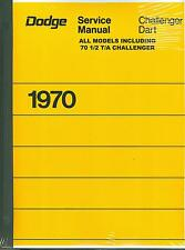 1970  DODGE CHALLENGER/RT/DART SHOP MANUAL WITH 1970 1/2 T/A SUPPLEMENT