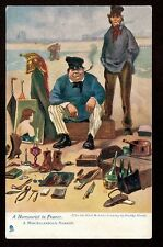 Tuck art by Dudley Harvey street vendor A Humourist in France comic postcard