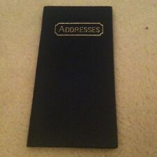 Slim Blue Leather Address Book - 17cm