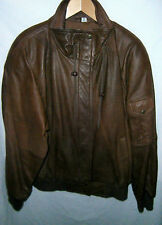"Concept Clothing Co. soft brown leather jacket  L 50"" EC"