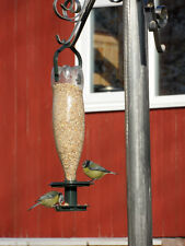 2 X ECO BOTTLE WILD BIRD FEEDERS WITH WATER TRAYS - RECYCLE USED PLASTIC BOTTLES
