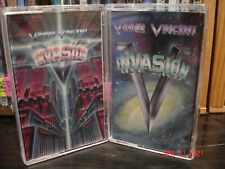 """KISS:  Vinnie Vincent  2 Cassette Lot   """"Invasion, & All Systems Go!"""""""