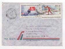 1993 MADAGASCAR Air Mail Cover ANTSIRANANA to SCARBOROUGH Yorks GB Olympics