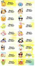 Personalized Waterproof Name label sticker, Tsum Tsum Disney Qty20 Large