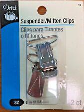 """Suspender/Mitten Clips 1"""" 2/Pkg Nickel 072879103779"""