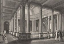 Reform Club. The corridors of the saloon. LONDON INTERIORS 1841 old print
