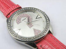 GUESS Woman's Oversize Celebrating 20 Years of Time Watch Genuine Leather