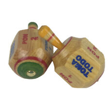 Pair of Toma Todo Wooden Pirinola Traditional Mexican Game Hand Made
