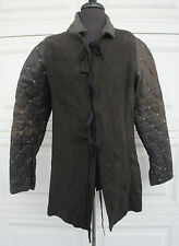 DRACULA UNTOLD Movie Prop Medieval Leather Gambeson Full sleeve Coat LARP SCA M