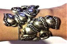 Huge Mexican Clamper Bracelet Sterling Silver Antique Vintage Mexico Deco Taxco