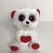 """TY Beanie Boo Bear Cuddly Bear Plush Stuffed Animal 5.5"""" Sitting 2015"""