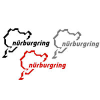 2 x Nurburgring Car Sticker Decal Choice of Colours 80mm Vinyl Sticker