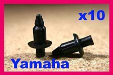 10 Yamaha Honda motor cycle bike fairing panel trim push fastener clips