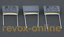 X2 Entstörkondensatoren MKP, MKS, 100nF, 275V~ für Revox B750 MK II, 3 Stück