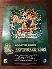 "Yu Gi Oh TCG Promotional Poster Magic Ruler June 2002 24""x18"" Excellent Condit"