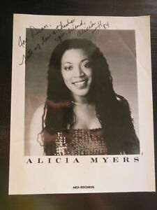 Alicia Myers Inscribed Signed Autographed 8x10 Photo 1980's