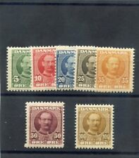 DENMARK Sc 72-8(MI 53-9)*F-VF LH OR LIGHT HR 1907 FREDERICK VIII SET $225