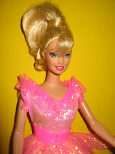 B224-rubia Barbie bailarina rosa ballet-vestido angegossene zapatos mattel 1998