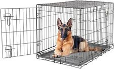 Dog Cage Crate Strong Metal Travel Crate Dog Cat Puppy 2 Door Small Medium Large