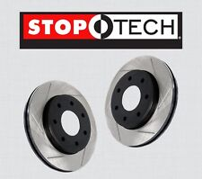 FRONT [LEFT & RIGHT] STOPTECH Slotted Brake Disc Rotors GT w/BREMBO PSF61116