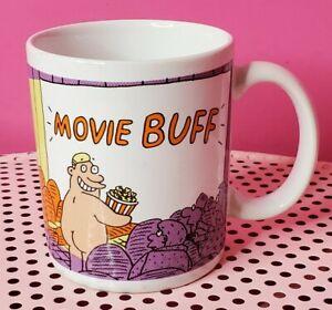 Vintage 1988 Hallmark Shoebox Coffee Mug Movie Buff Funny Naked Guy