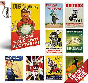 VINTAGE WW2 PROPAGANDA Posters, Nostalgic Glossy Wall Art A3 A4 Print Home Decor