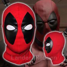 Máscara Deadpool Cosplay Halloween Traje Lycra Spandex Máscara Rojo/Negro Tamaños Adultos