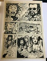 DALE KEOWN of HULK PITT original art RARE early WORK ROCKER GROUPIES GIRLS