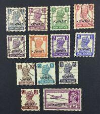 MOMEN: KUWAIT SG #52-63 1945 USED £190 LOT #5067
