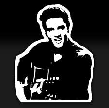 ELVIS PRESLEY KING OF ROCK N ROLL Music Guitar Oracal Vinyl Sticker Decal