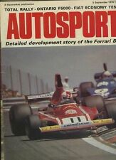 Autosport September 5th 1974 *Ontario F5000 & Ferrari 312 B3