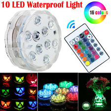 10 LED submersible Multi Color Waterproof Wedding Party Vase Base Light & Remote
